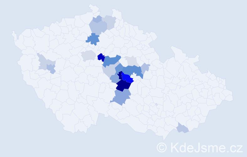 Příjmení: 'Cemper', počet výskytů 68 v celé ČR