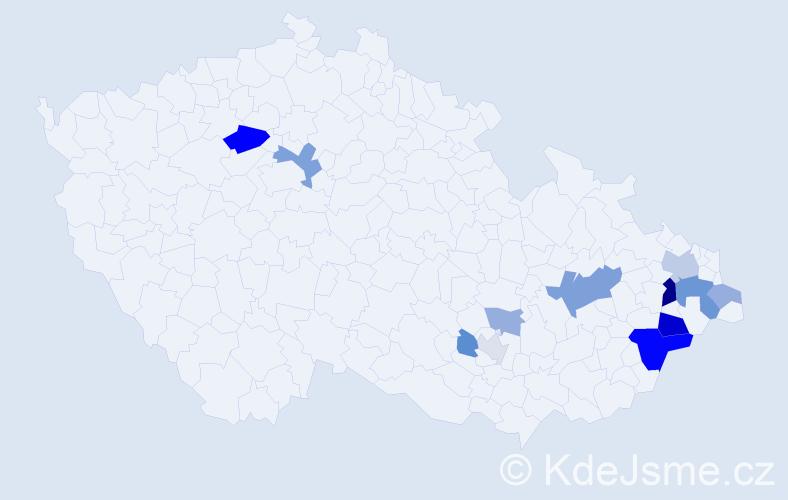 Příjmení: 'Bernatská', počet výskytů 29 v celé ČR