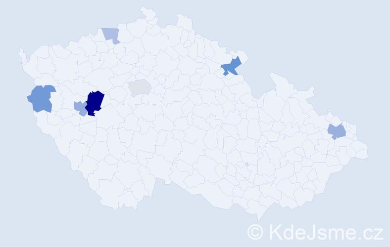 Příjmení: 'Karníková', počet výskytů 15 v celé ČR