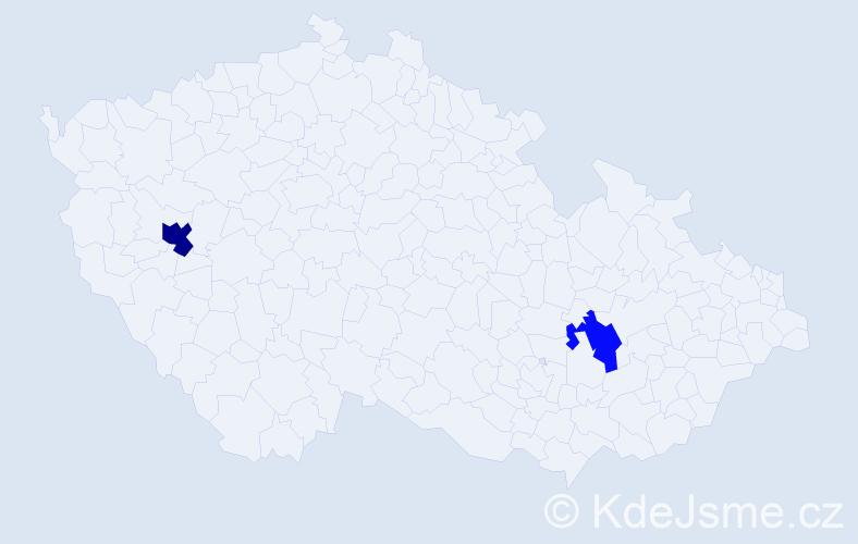 Příjmení: 'Huňatý', počet výskytů 6 v celé ČR