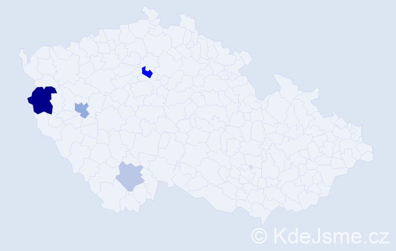 Příjmení: 'Landergot', počet výskytů 8 v celé ČR