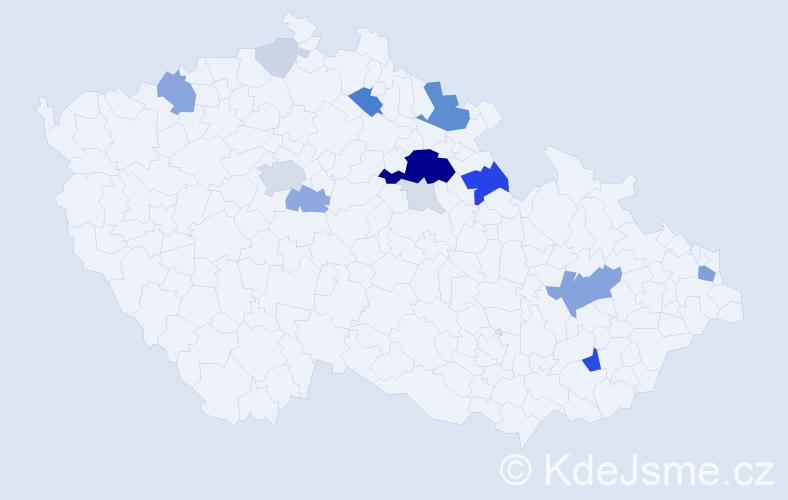 Příjmení: 'Ferbas', počet výskytů 58 v celé ČR