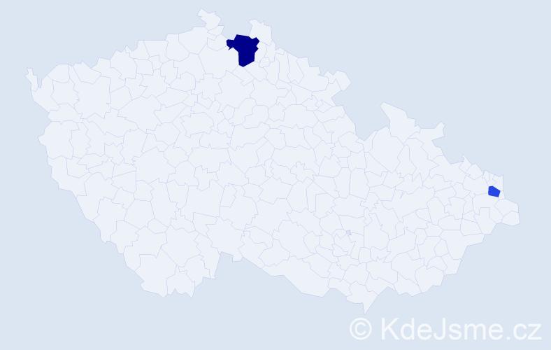 Příjmení: 'Halabuková', počet výskytů 9 v celé ČR