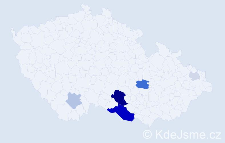 Příjmení: 'Erat', počet výskytů 14 v celé ČR