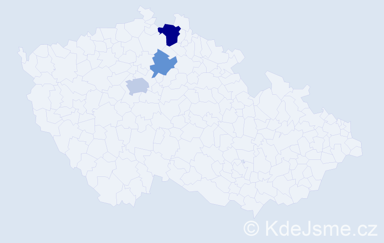 Příjmení: 'Janitor', počet výskytů 6 v celé ČR