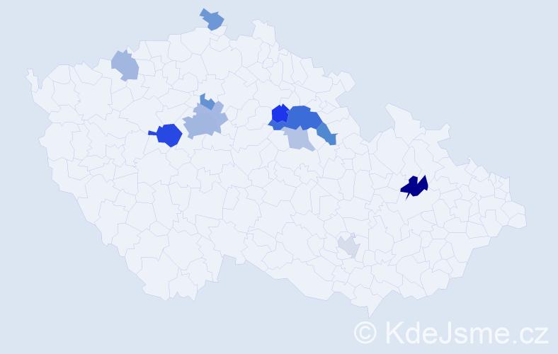 Příjmení: 'Duhová', počet výskytů 27 v celé ČR