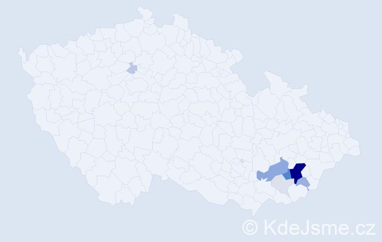 Příjmení: 'Bačůvka', počet výskytů 37 v celé ČR