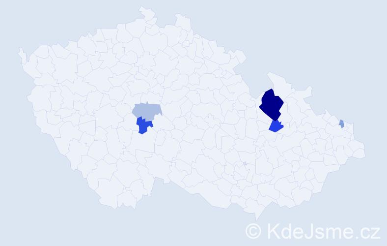 Příjmení: 'Bajaník', počet výskytů 14 v celé ČR