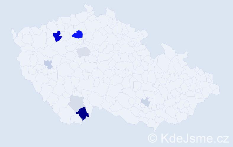 Příjmení: 'Elias', počet výskytů 22 v celé ČR