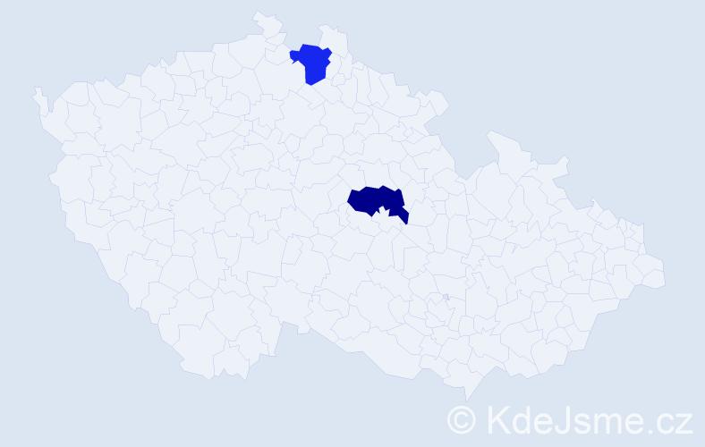 Příjmení: 'Balčák', počet výskytů 2 v celé ČR