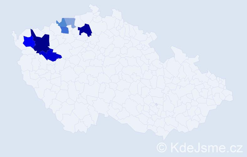 Příjmení: 'Eiglerová', počet výskytů 15 v celé ČR