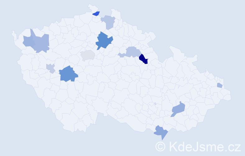 Příjmení: 'Izakovič', počet výskytů 18 v celé ČR