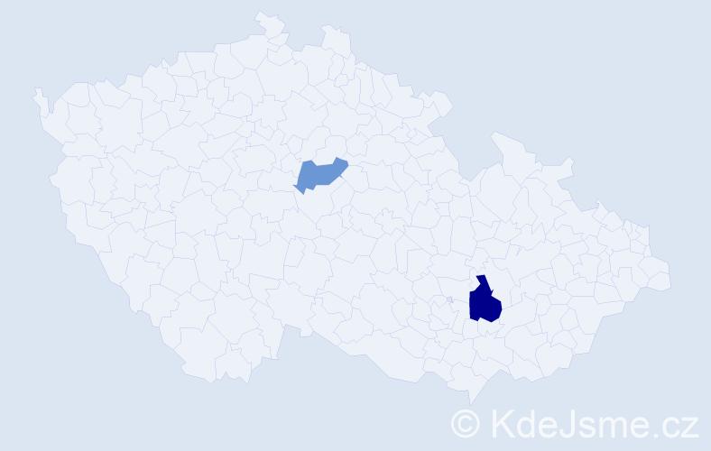 Příjmení: 'Istenčin', počet výskytů 3 v celé ČR