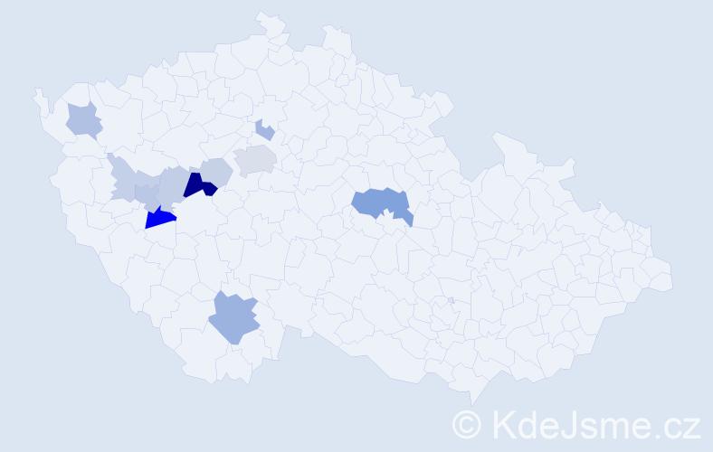 Příjmení: 'Eismannová', počet výskytů 32 v celé ČR
