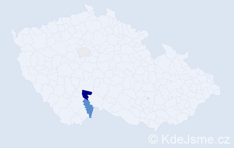Příjmení: 'Koubovcová', počet výskytů 8 v celé ČR