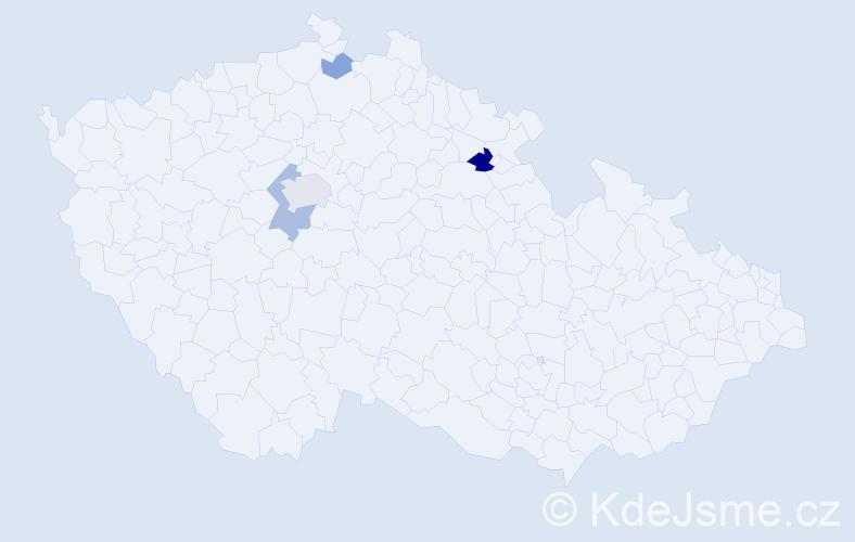 Příjmení: 'Asad', počet výskytů 9 v celé ČR