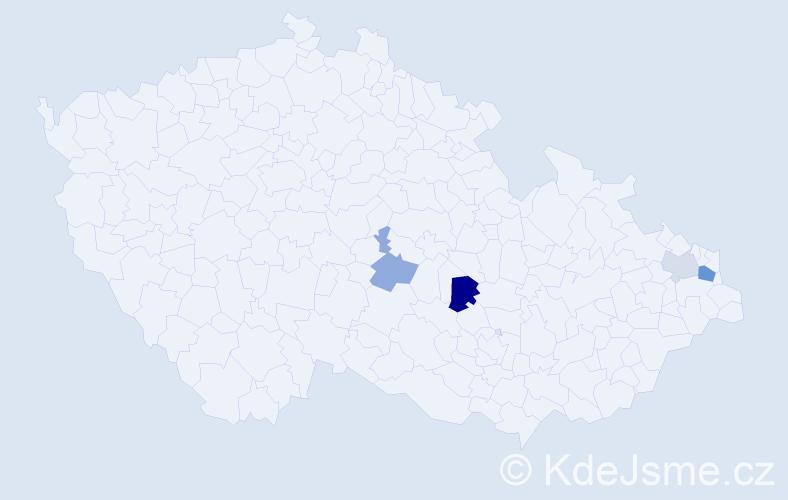 Příjmení: 'Golembová', počet výskytů 7 v celé ČR