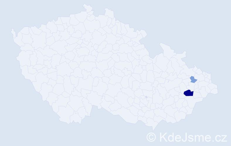 Příjmení: 'Gartus', počet výskytů 7 v celé ČR