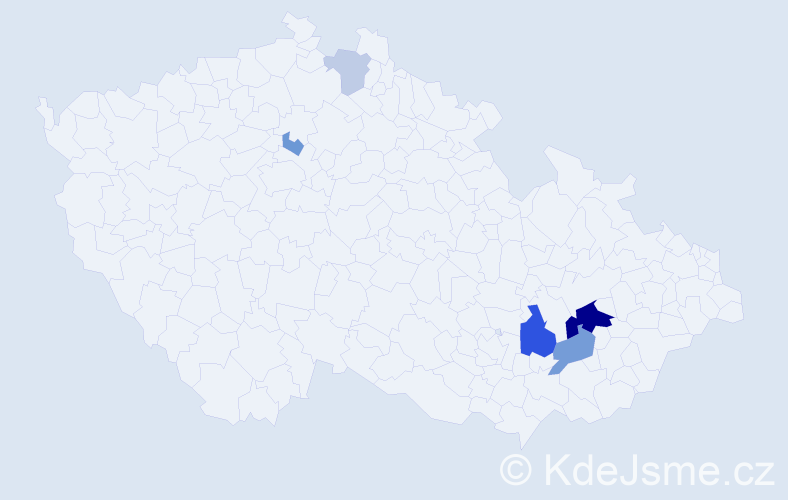Příjmení: 'Deduch', počet výskytů 14 v celé ČR