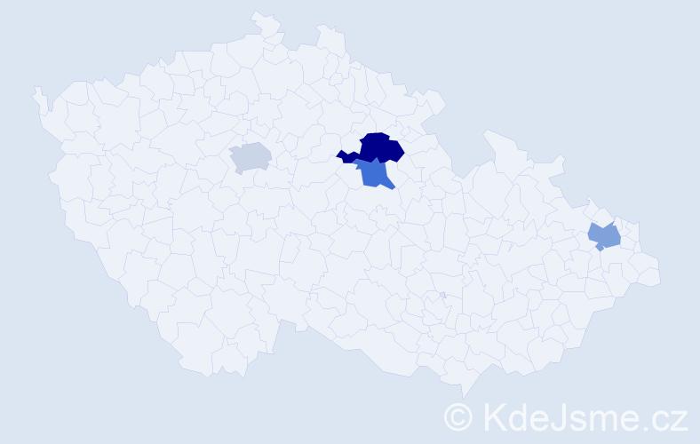 Příjmení: 'Karnas', počet výskytů 5 v celé ČR