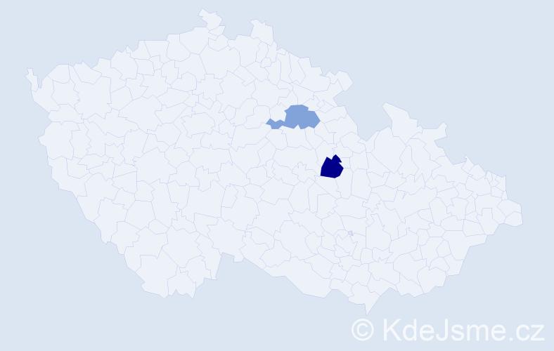 Příjmení: 'Knaur', počet výskytů 2 v celé ČR
