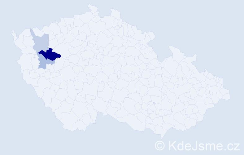 Příjmení: 'Haidlmaier', počet výskytů 5 v celé ČR