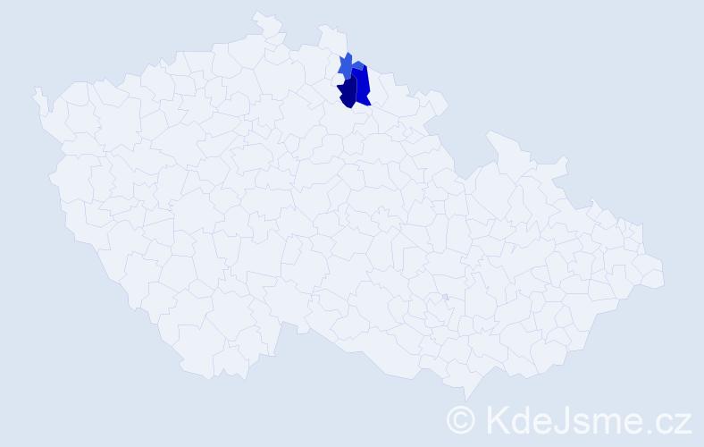 Příjmení: 'Flajšr', počet výskytů 9 v celé ČR