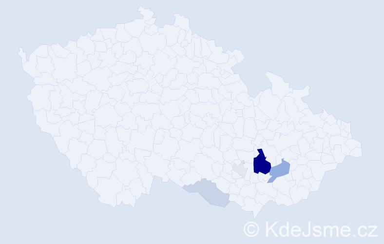 Příjmení: 'Donneberger', počet výskytů 12 v celé ČR