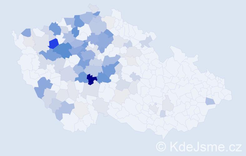 Příjmení: 'Bechyňová', počet výskytů 347 v celé ČR