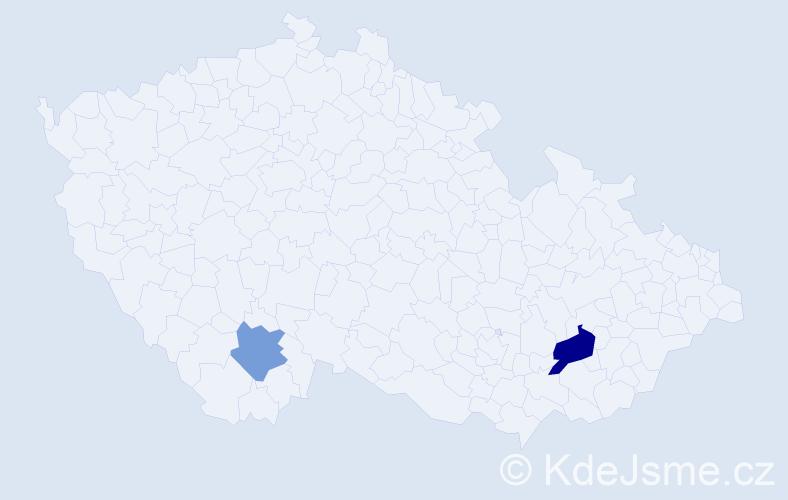 Příjmení: 'Jambrikovičová', počet výskytů 3 v celé ČR