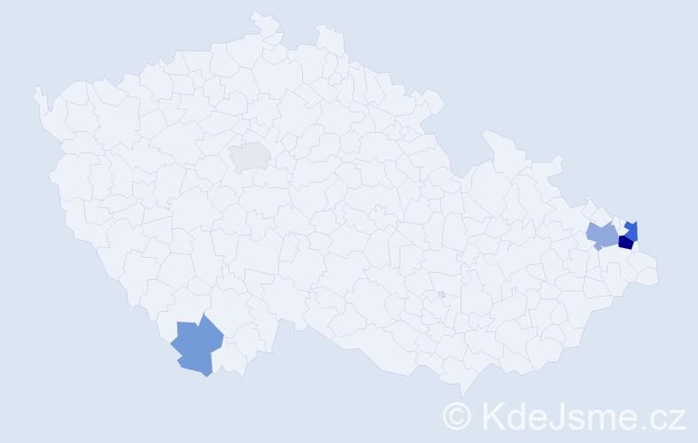 Příjmení: 'Gawronová', počet výskytů 14 v celé ČR