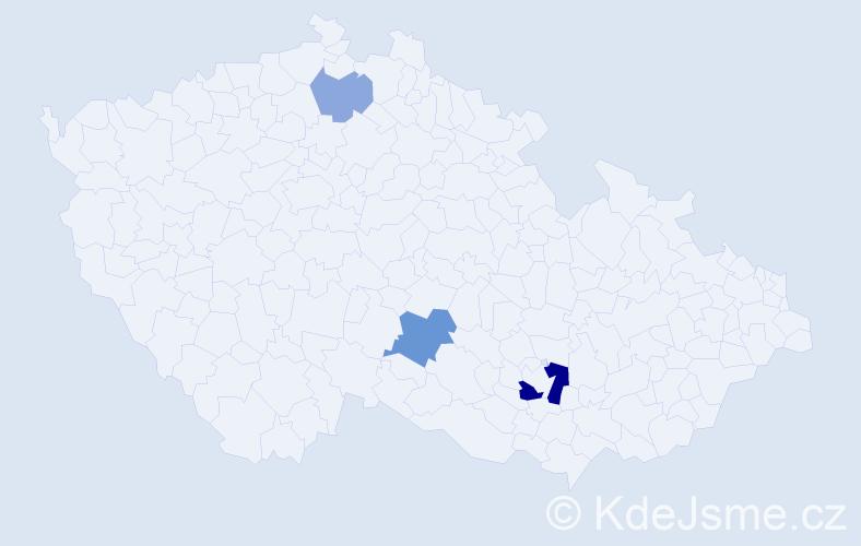 Příjmení: 'Laichmann', počet výskytů 7 v celé ČR