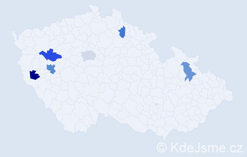 Příjmení: 'Gůra', počet výskytů 11 v celé ČR