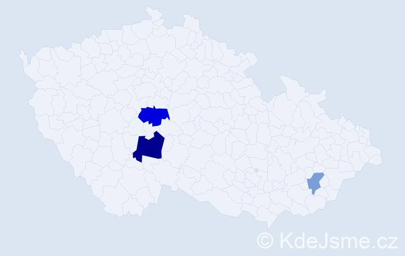 Příjmení: 'Habisonová', počet výskytů 6 v celé ČR