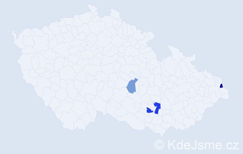 Příjmení: 'Haluščáková', počet výskytů 6 v celé ČR