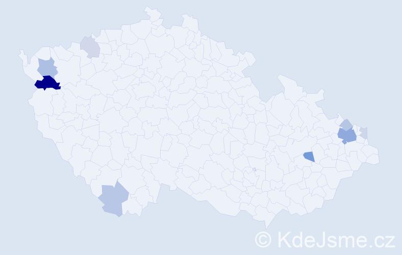 Příjmení: 'Kostolány', počet výskytů 20 v celé ČR