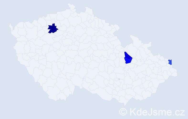 Příjmení: 'Jašák', počet výskytů 9 v celé ČR
