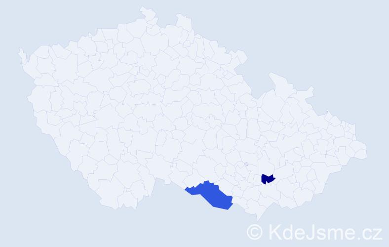 Příjmení: 'Grittersová', počet výskytů 4 v celé ČR