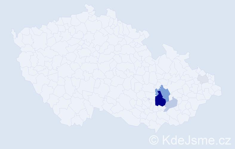 Příjmení: 'Judásková', počet výskytů 12 v celé ČR