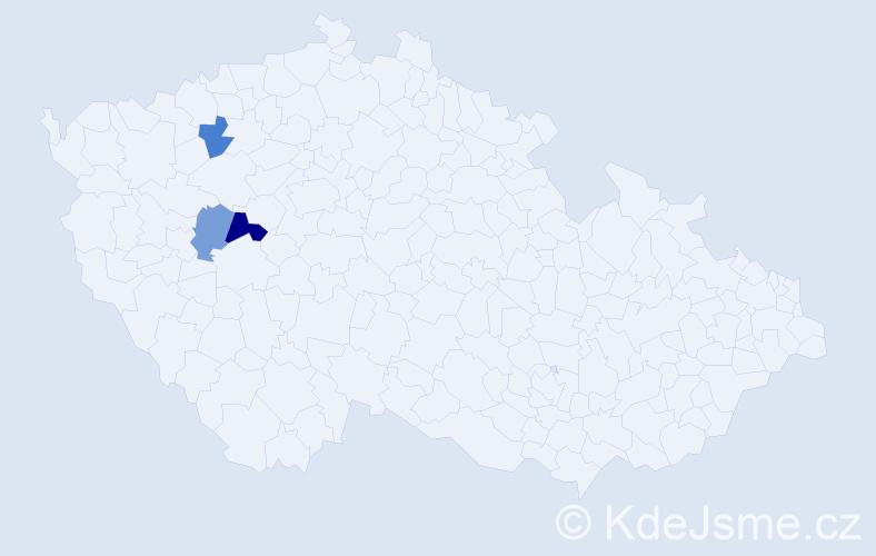 Příjmení: 'Kelovská', počet výskytů 4 v celé ČR