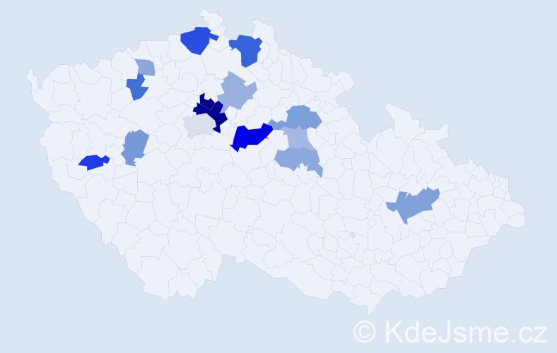 Příjmení: 'Kopejsko', počet výskytů 31 v celé ČR