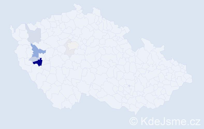 Příjmení: 'Kriegelstein', počet výskytů 21 v celé ČR