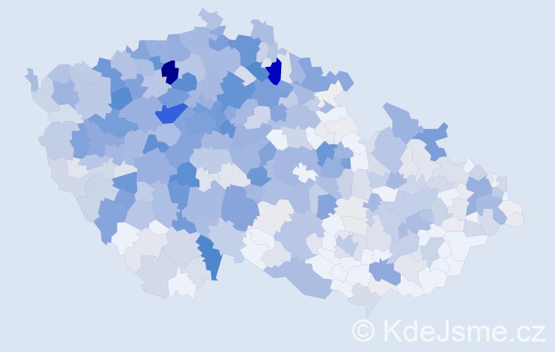 Příjmení: 'Dlouhá', počet výskytů 3004 v celé ČR