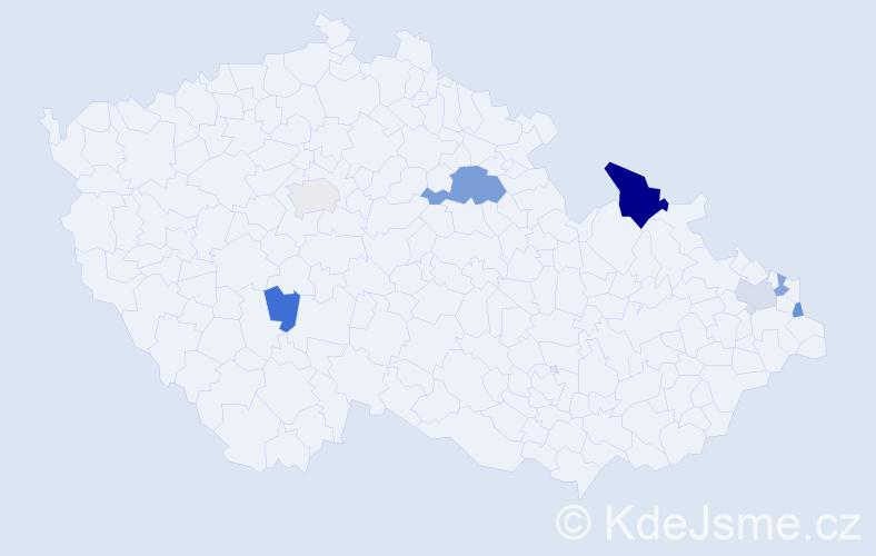 Příjmení: 'Burkuš', počet výskytů 12 v celé ČR