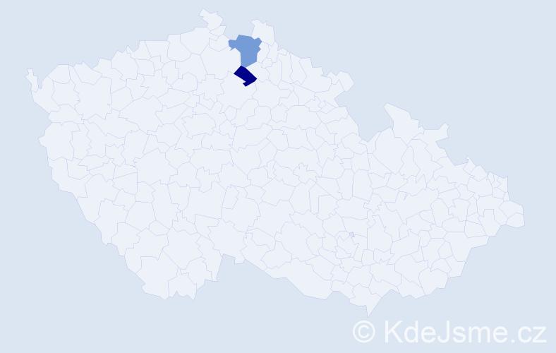 Příjmení: 'Brojer', počet výskytů 3 v celé ČR