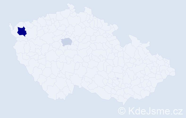 Příjmení: 'Heth', počet výskytů 7 v celé ČR