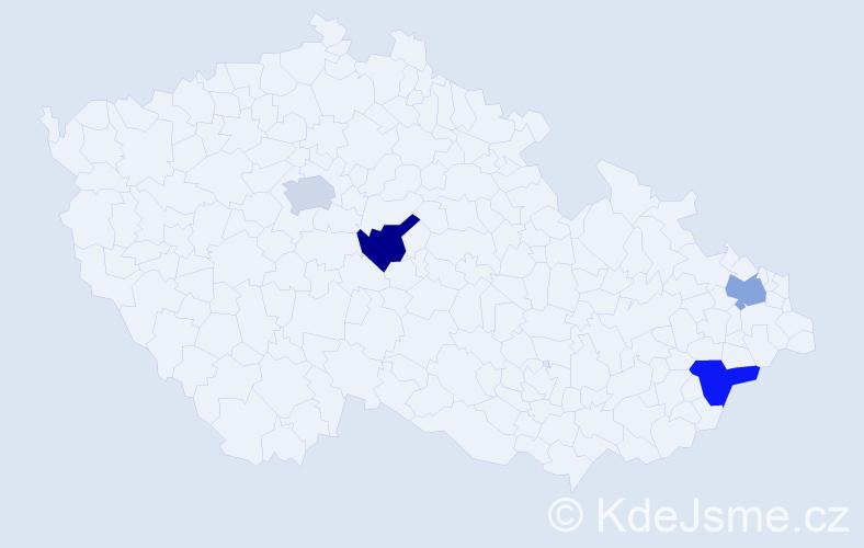 Příjmení: 'Baranka', počet výskytů 4 v celé ČR