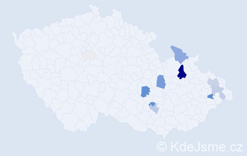 Příjmení: 'Baručáková', počet výskytů 14 v celé ČR