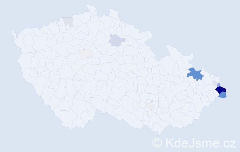 Příjmení: 'Dudysová', počet výskytů 40 v celé ČR