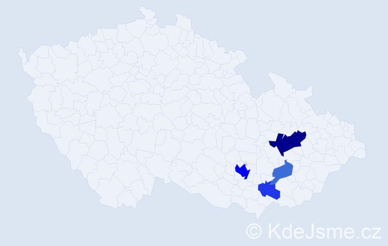 Příjmení: 'Lažnovský', počet výskytů 10 v celé ČR